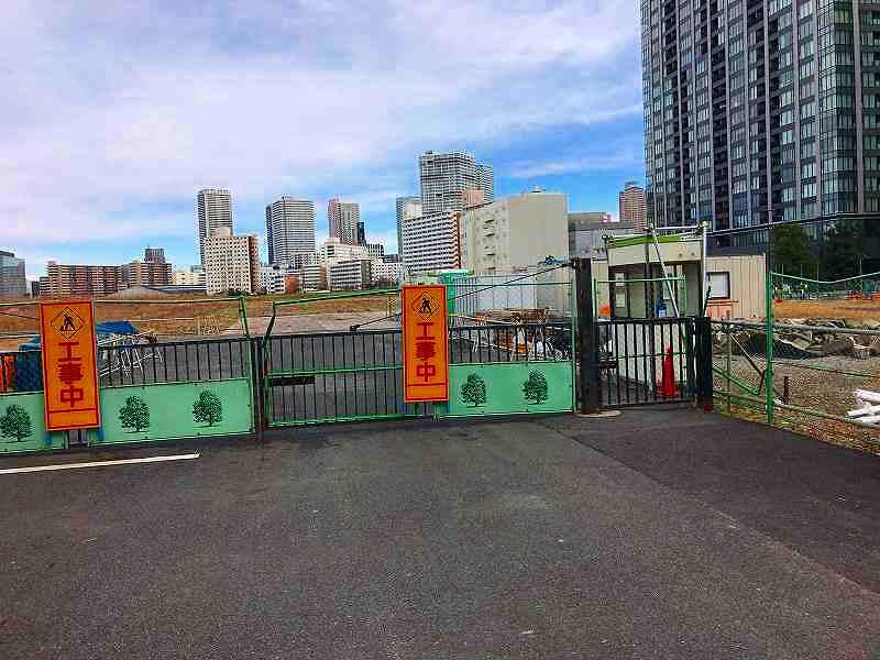 有明アリーナ建設予定地2017年2月10日時点の写真