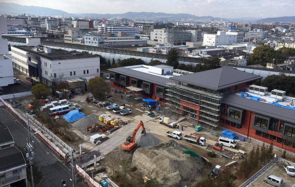 森友学園建設現場を上から見たところ