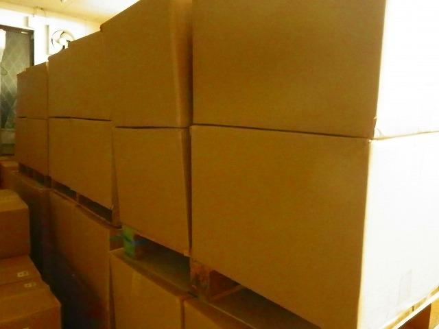 在庫の段ボール箱